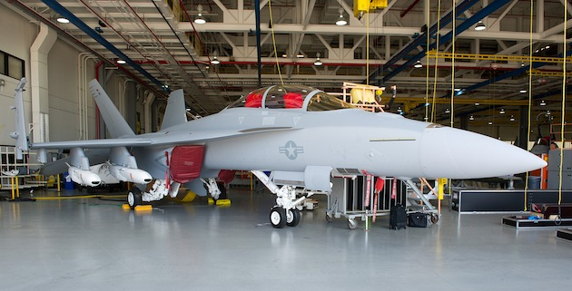 Joint Strike Missile on F/A-18 fit Check